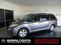 Come see this 2014 Toyota Sienna LE. Its Automatic