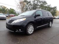 CARFAX One-Owner. Black 2014 Toyota Sienna XLE 7