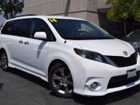CARFAX One-Owner. White 2014 Toyota Sienna SE 8