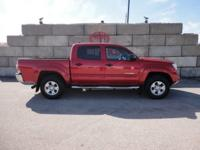 Certified. Red 2014 Toyota Tacoma V6 4WD 5-Speed