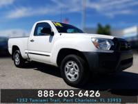 White 2014 Toyota Tacoma RWD 4-Speed Automatic 2.7L I4