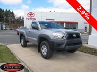 ONE OWNER!! 2014 TOYOTA TACOMA!! 4WD, REGULAR CAB,