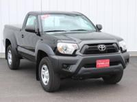 Options:  2014 Toyota Tacoma Base|Black|Accident Free