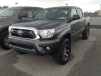The Toyota Tacoma 2WD Double Cab V6 AT PreRunner will