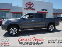 4WD. Clean CARFAX. Gray 2014 Toyota Tacoma V6 4D Double