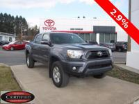 ONE OWNER!! 2014 TOYOTA TACOMA!! 4WD, DOUBLE CAB, 4.0L