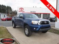 ONE OWNER!! 2014 TOYOTA TACOMA SR5!! DOUBLE CAB, 4WD,