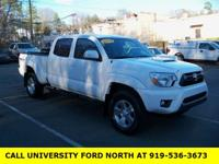 Clean CARFAX. 2014 Toyota Tacoma White 4.0L V6 EFI DOHC