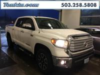 WOW!!! Check out this. 2014 Toyota Tundra Limited White