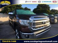 Options:  2014 Toyota Tundra Platinum|Brown|Recent