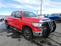 SR5 trim, RADIANT RED exterior and GRAPHITE interior.