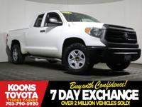 2014 Toyota Tundra SR in Super White, BLUETOOTH, LOW