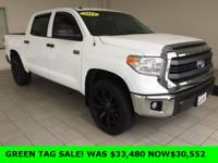 New Price! 2014 Toyota Tundra in White, Bluetooth,