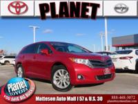 Recent Arrival! New Price! 2014 Toyota Venza LE Red
