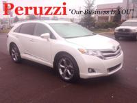 Clean CARFAX. White 2014 Toyota Venza XLE AWD 6-Speed