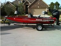 2014 Bass Tracker Pro 175 TXW. This bass tracker is in