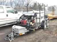 2014 Trailer Mounted Hot Water Pressure Wash System to
