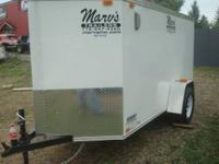 2014 UNITED 5X10 XLV ENCLOSED TRAILER WITH REAR RAMP