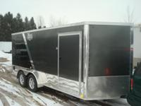 2014 UNITED 7X16 XLMTV DELUXE MOTORCYCLE TRAILER, 3500#
