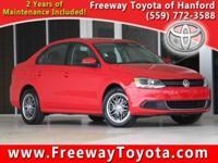 Clean CARFAX. Red 2014 Volkswagen Jetta 1.8T SE FWD