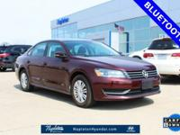 CARFAX One-Owner. Clean CARFAX. Maroon 2014 Volkswagen