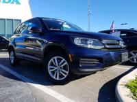 Clean CARFAX. Blue 2014 Volkswagen Tiguan S FWD 6-Speed