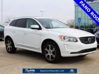 Clean CARFAX. Crystal White Pearl 2014 Volvo XC60 T6 No