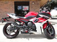 2014 Yamaha FZ6R, 1450 miles, one owner, manual and 2