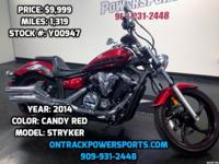 2014 YAMAHA STRYKER CANDY RED We Finance Everyone! We