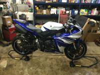 This is a 2014 Yamaha R1 with 2327 Miles.Most current
