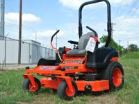 This mower showcases higher horsepower engine options