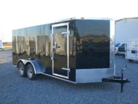 12 STONE GUARD, 36' SIDE DOOR, ELECTRIC BRAKES, FLAT