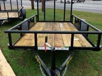 2014 NEW Big Tex 30SA 5 x 10 Utility Trailer with 4 ft