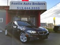 This 2014 BMW 5-series 528i is CERTIFIED Pre- Owned and