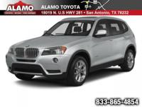 NEW ARRIVAL! LOW MILES! This Alpine White 2014 BMW X3