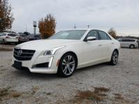 Clean CARFAX. White 2014 Cadillac CTS 3.6L Twin Turbo
