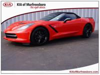 Clean CARFAX. Red 2014 Chevrolet Corvette Stingray Z51