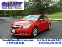 This outstanding example of a 2014 Chevrolet Cruze 2LT