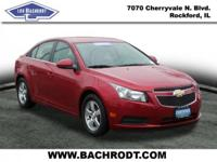 Cruze 1LT Clean CARFAX. Illuminated entry, Remote