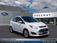 White Platinum Metallic Tri-Coat 2014 Ford C-Max Energi