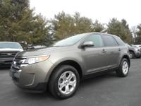 Certified. Gray 2014 Ford Edge SEL AWD 6-Speed