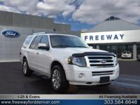 White Platinum Metallic Tri-Coat 2014 Ford Expedition