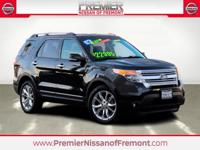 Clean CARFAX. Tuxedo Black Metallic 2014 Ford Explorer