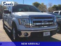 Clean CARFAX. Oxford White 2014 Ford F-150 XLT RWD