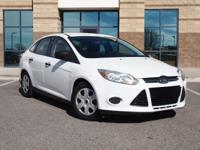 New Price! Clean CARFAX. White 2014 Ford Focus S FWD