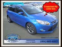 Checkout this Humes Ford of Corry Blue 2014 Ford Focus