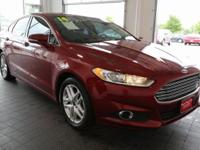 Options:  2014 Ford Fusion Se|Red|**Bluetooth**|**Clean