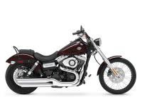 The Harley Dyna Wide Glide model showcases a powerful