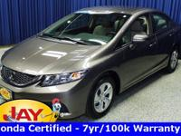 Options:  2014 Honda Civic Lx|Silver|Smart Buy!  Don't