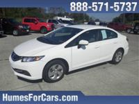 Checkout this Humes 2014 Taffeta White Honda Civic LX